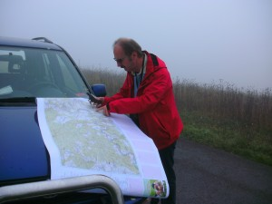 Willi Thanninger beim setzen der GPS Punkte