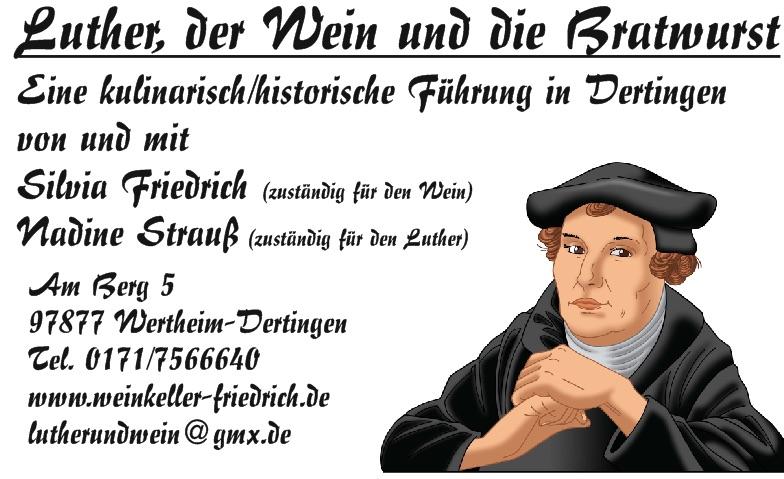 Luther, der Wein und die Bratwurst