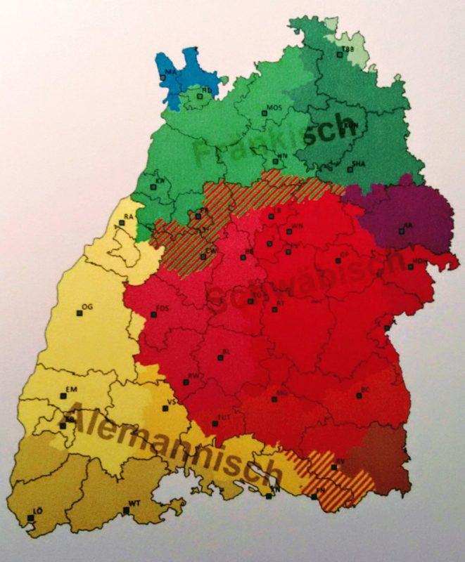 Die Dialekte in Baden-Württemberg