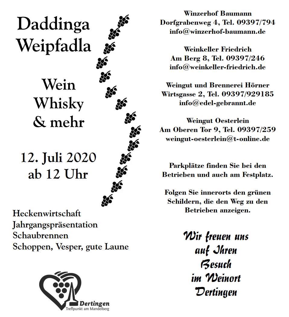 Daddinga Weipfadla am 12. Juli 2020